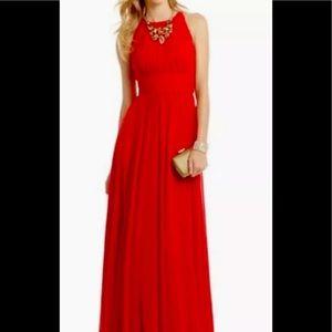 Badgley Mischka lipstick red dress 4 floor length
